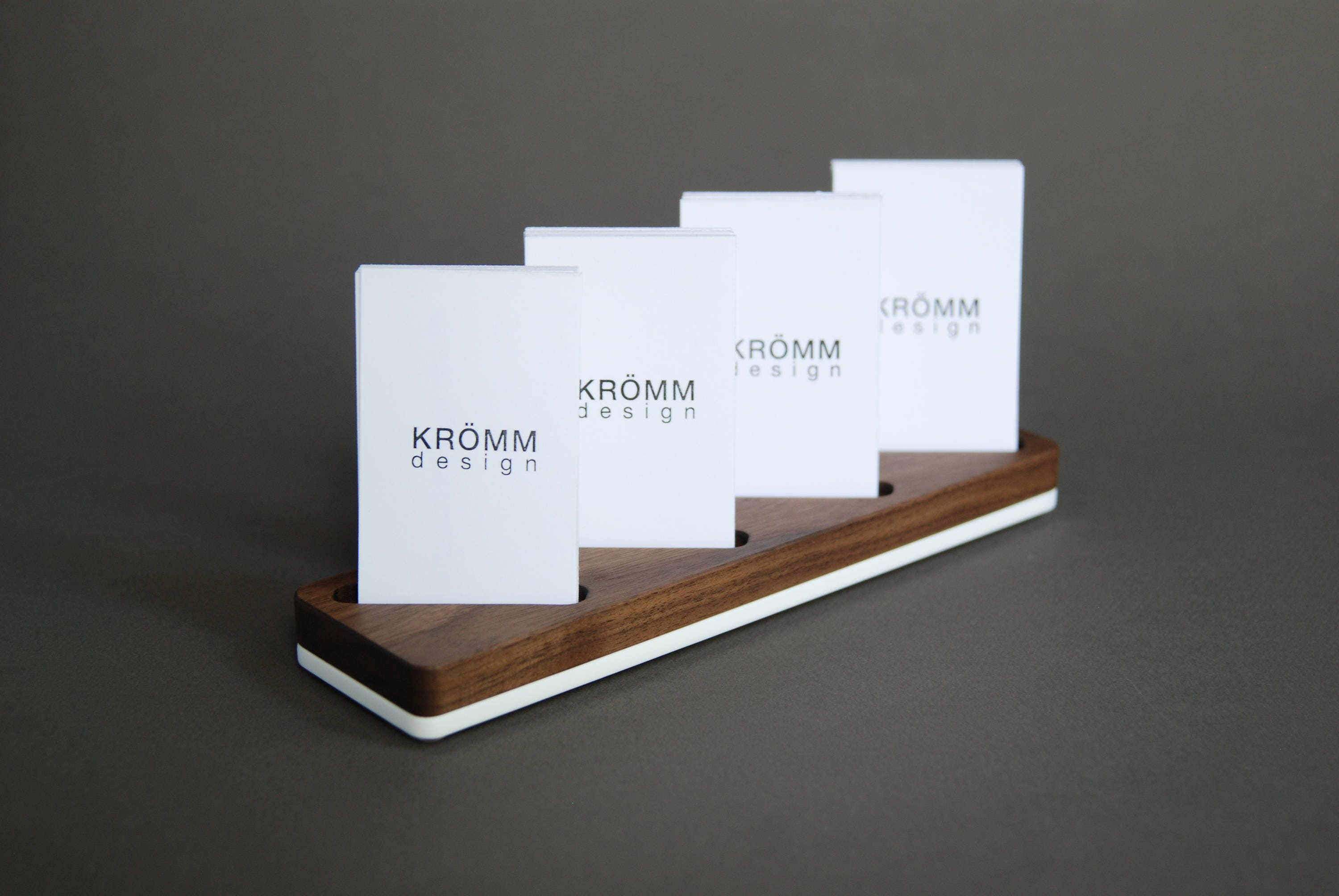 Wood card stand for four vertical business cards walnut wood and wood card stand for four vertical business cards walnut wood and acrylic card holder wooden vertical moo business card holder colourmoves