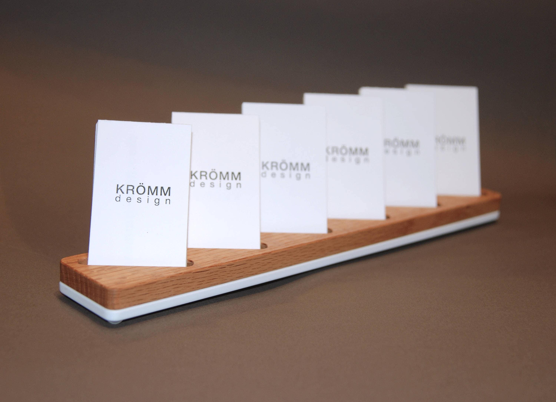 Multiple moo business card stand oak wood and white acrylic multiple moo business card stand oak wood and white acrylic business card display 6 vertical card stand in oak wood and white acrylic colourmoves