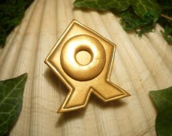 Republica Council Pin - Brooch of Airbender Tenzin - OOAK - Avatar - Legend of Korra