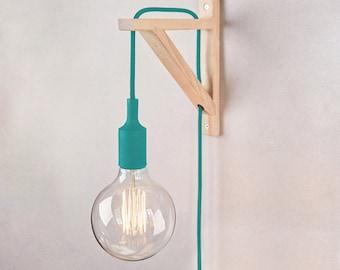 Plug in wall light turquoise, Bracket wall lamp, Plug in wall sconce, Plug in wall lamps, Wall light, Wall sconce, Plug in wall lamp, Nordic