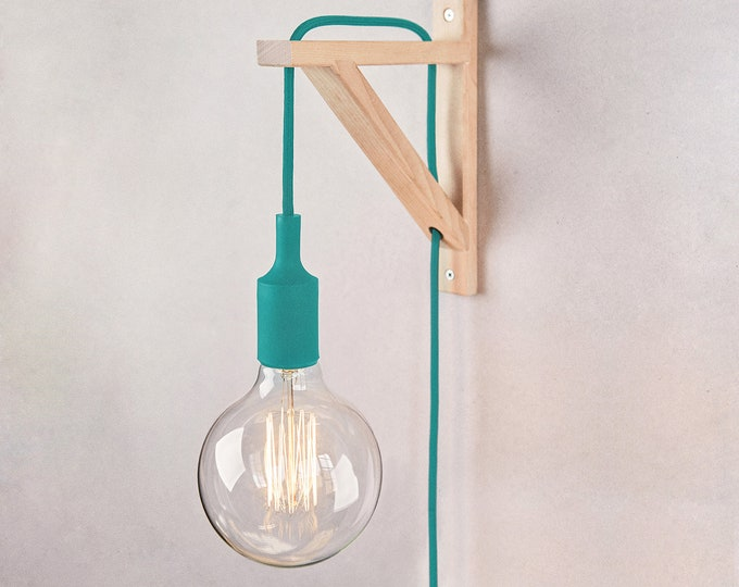 Plug in wall sconce, plug in wall light, Wall sconce, plug in wall lamp, plug in wall light,  Lamp, wooden lamp, wall lamp, Nordic lamp
