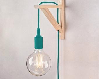 Plug in wall sconce, Wall sconce, plug in wall lamp, plug in wall light,  Lamp, wooden lamp, square wall lamp, Nordic lamp,Nordic Wall lamp