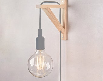Wall sconce, Plug in wall sconce, Plug in wall light, Nordic lamp, Nordic Wall lamp, Wooden Sconce, Wall lamp, wall light, bracket lamp