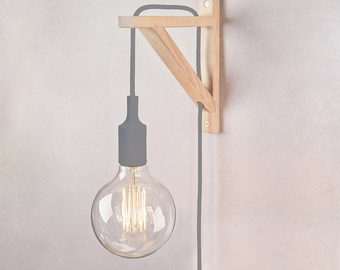 Plug in wall sconce, Plug in wall light, Nordic lamp, Nordic Wall lamp, Wooden Sconce, Wall lamp, wall light, wooden lamp, Wooden Lamp