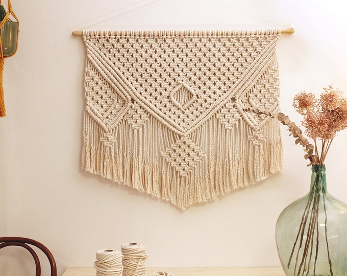 Macrame wall hanging, Wall decor macrame, Macrame tapestry, Wall hanging ANNA, Fiber art for wall, Wall art macrame, Big wall hanging fiber