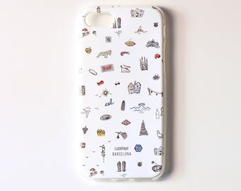 Mobile housing iphone 7, Barcelona icons Holster, iphone 7 case, mobile silicone casing, holster iphone 7, IPhone7 casing, mobile case