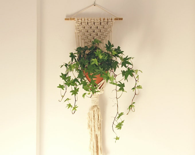 Wallhanging, Plant hanger Macrame, Eco friendly gift, Mother's Day gift, Macrame pot holder, boho plant holder, pot hanger, boho wallhanging