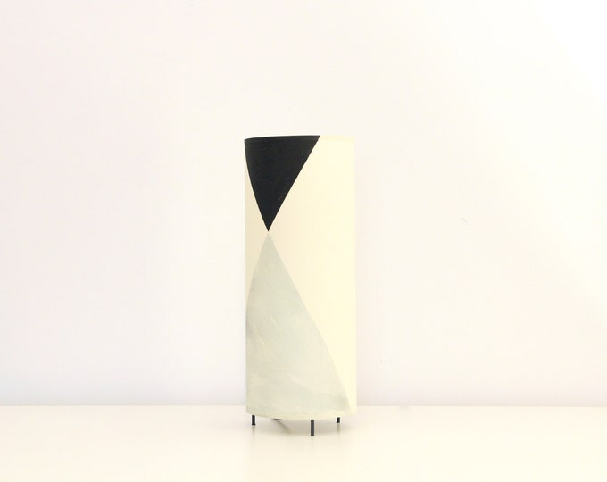 Table lampshade tube, table lamp cylinder, table lamp MAUD, table lamp mid century modern, mid century lamp, table lamp black grey blue