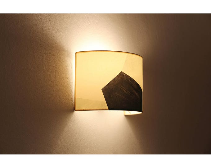 Plug in wall sconce MAUD,  wall sconce plug in, wall lamp shade, wall sconce geometric shapes, mid century sconce, wall lamp mid century