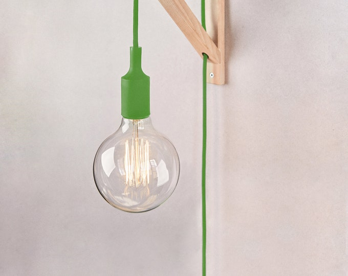 Plug in wall sconce GREEN, Wall lamp plug in, Plug in wall light, Plug in sconce, Nordic lamp, Wall light plug in, Bedside lamp,