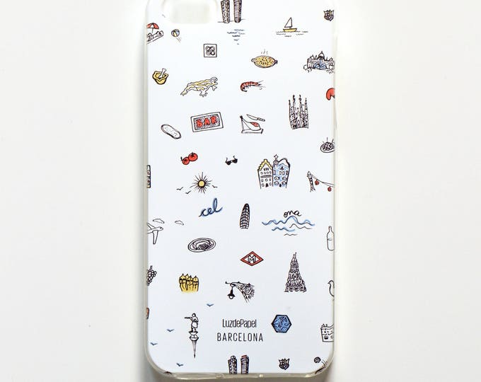 Mobile housing 5s iPHONE / iPHONE, mobile silicone casing, cover stamped phone Barcelona iphone 5s /, housing mobile iPhone 5 s / is