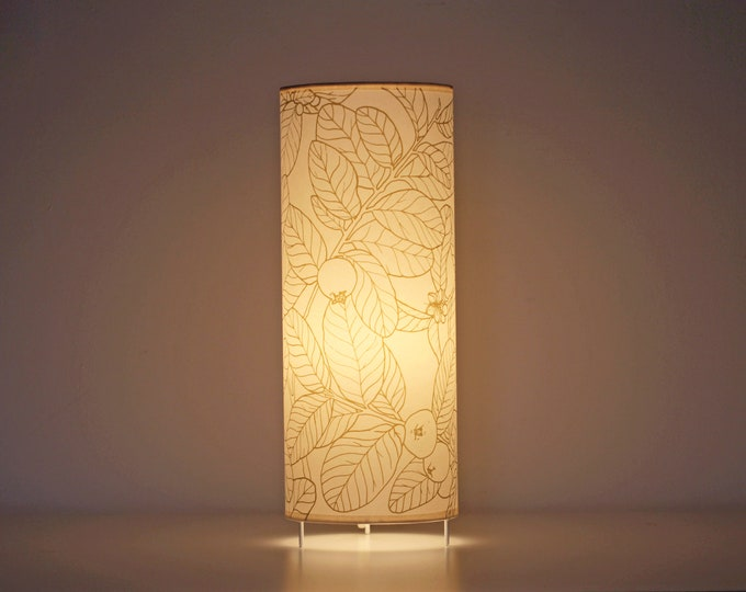 Table lamp,  Tube lamp plants, Table lamps screen printed, lamp leafs, Lampshade table, Table lamp GUAYABO A, Tube lampshade, Lamp shade