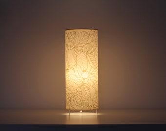 Table lamp,  Tube lamp plants, Table lamps screenprinted, lamp leafs, Lampshade table, Table lamp GUAYABO B, Tube lampshade, Lamp shade