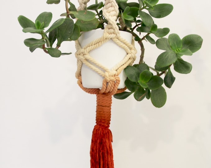 Macrame plant hanger, Boho holder plants, Dyed macrame plant hanger, Mother's Day gift, Macrame pot holder, Boho pot hanger,Marsala macrame