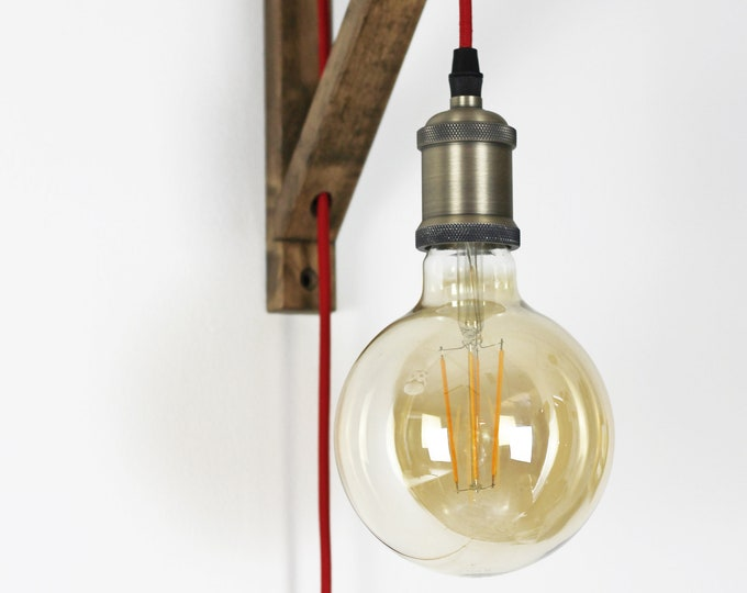 Plug in wall sconce, Plug in wall light, Pendant light, Wall lamp plug in, Wall sconce wood,  Farmhouse Plug in sconce, Farmhouse interior