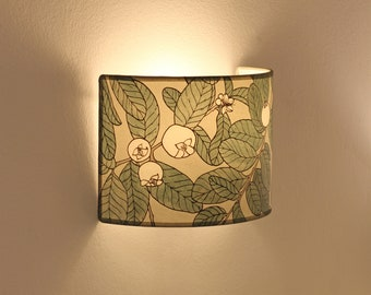 Plug in wall sconce,  Wall lampshade, Wall sconce plug in, wall light plug in, Wall lamp plug in, Sconce greys, Wall sconce GUAYABO greens