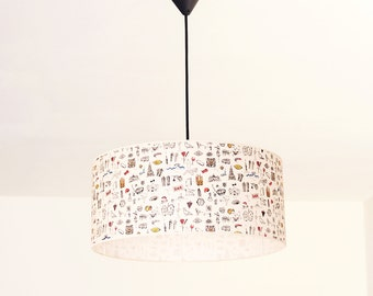 Pendant Lamp Barcelona Collection, Ceiling lamp, Big lampshade, Barcelona lampshade, Lighting Barcelona, Handcrafted lamp, Original lamp