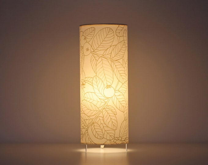 Table lamp,  Tube lamp plants, Table lamps screen printed, lamp leafs, Lampshade table, Table lamp GUAYABA B, Tube lampshade, Lamp shade