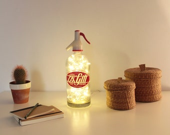 Bottle soda, Sifon lamp, Vintage lamp, Light sifon, Light bottle, Bottle lamp, Led lights lamp, Led lights bottle, Led lights sifon, Soda