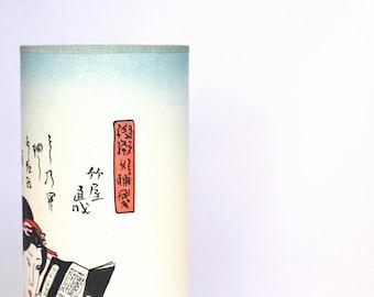 Japanese lamp, Table lamp geisha, table lamp japanese woman, japan lamp, lamp woman reading, table lamp asiatic, handmade lamp, bedside lamp