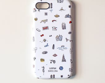 Mobile housing 7, Barcelona iPHONE icons, iPHONE 7 case, rigid mobile housing, case 7, housing iPhone7 iphone phone, founded founded iphone7