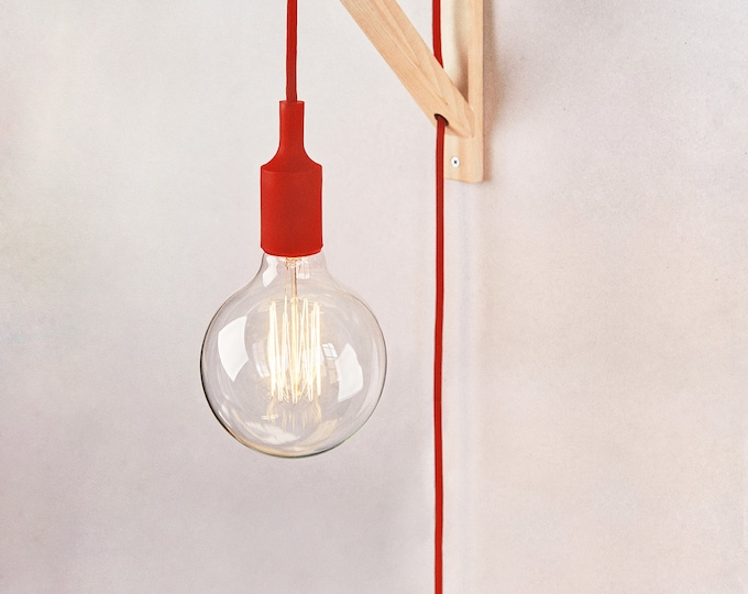 Plug in wall sconce, Plug in pendant light, Wall lamp adjustable, Wooden wall sconce, Plug in wall light, Wall lamp plug in, Bracket lamp