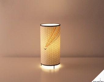 Chopsticks Japanese lamp, Collaboration HugoGiner & LuzdePapel, japanese chopsticks lamp, table lamp, design lamp, japanese restaurant lamp