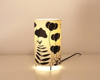 Japanese plants Lamp, table Lamp collaboration HugoGiner & LuzdePapel, desk lamp, Japan chandelier, black plants lamp