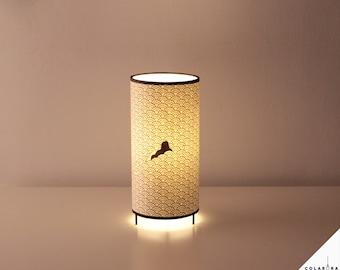 Japanese lamp swimmer, Lamp Japan, table Lamp collaboration HugoGiner & LuzdePapel, design lamp, Japanese restaurant lamp