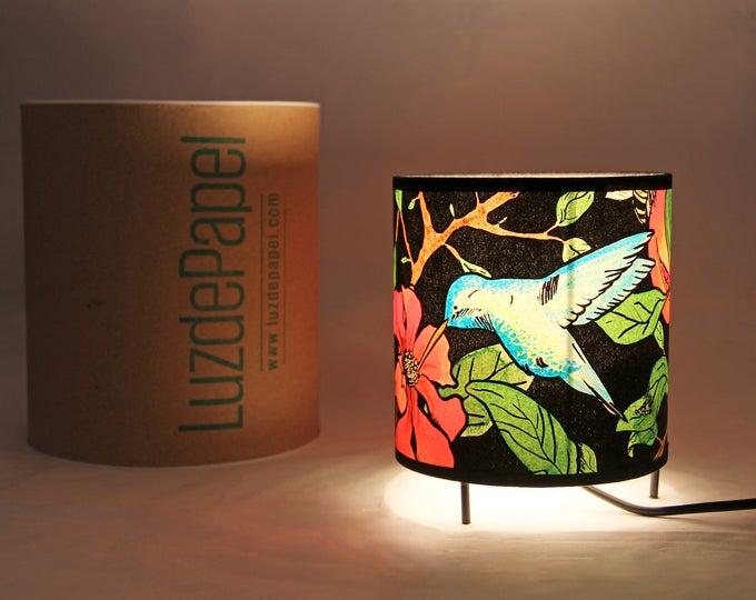 Table lamp Pomegranate tree, table light, Table Lamp nature, lamp bedside table, original lampshade, handmade lamp shade, hummingbird lamp