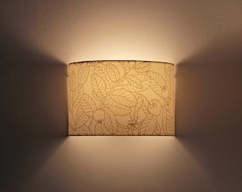 Plug in wall sconce,  Wall lampshade, Wall sconce plug in, wall light plug in, Wall lamp plug in, Sconce botanical, Wall sconce GUAYABO B,