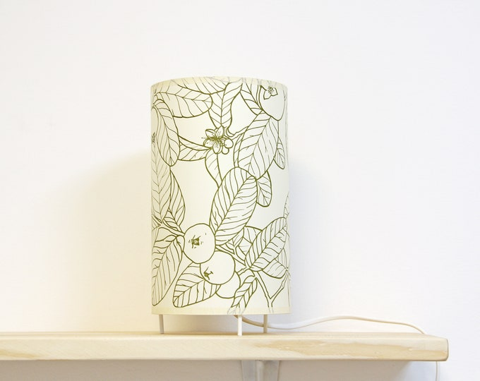 Table lamp shade, Shelf lamp, Table lamp ambient light, lamp botanical, Lampshade table, Table lamp GUAYABA B, Lampshade cylinder
