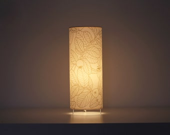 Table lamp,  Tube lamp plants, Table lamps screenprinted, lamp leafs, Lampshade table, Table lamp GUAYABO A, Tube lampshade, Lamp shade