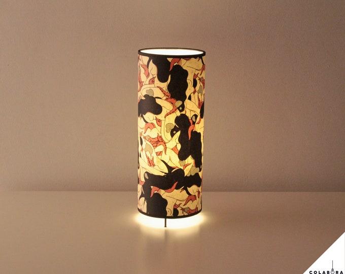 Japanese Girls & octopus Lamp, table lamp collaboration HugoGiner & LuzdePapel, table Lamp, Japan Lamp, original Lamp