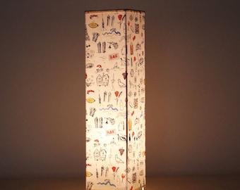 Table Lamp 35 x 9 cm Barcelona Print collection.