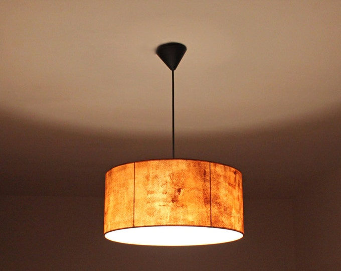 Hanging lamp, Industrial lighting, Ceiling lamp, Pendant lamp industrial, Oxide lampshade, Oxide lamp, Copper hanging lampshade, Drum lamp
