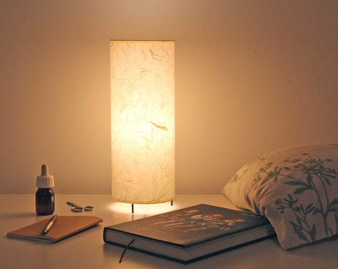 Japanese table lampshade, Japanese lamp, Lamp tube, table lamp cylinder, table lamp japan modern, mid century lamp, table lamp white