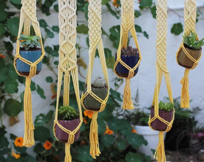 Boho holder plants, Wedding macrame, Wedding present, Wedding mini Plant Hanger, Wedding seating plan,Wedding decoration,Wedding guests gift