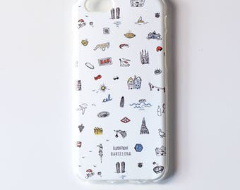 Mobile housing 6 iPHONE / iPHONE 6s, Barcelona case, iPHONE case, mobile housing silicone, founded phone iphone 6 / 6s, 6/6s iPhone casing