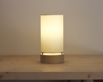 Japanese table lampshade 26.5 cm, Japanese lamp wood base, Lamp tube, Table lamp cylinder, Table lamp japan modern, Mid century lamp wood