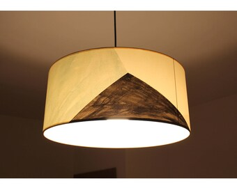Hanging lamp MAUD,  pendant lamp, pendant lamp shade, pendant lampshade, drum lamp, mid century lamp, hanging minimal lamp, ceiling lamp