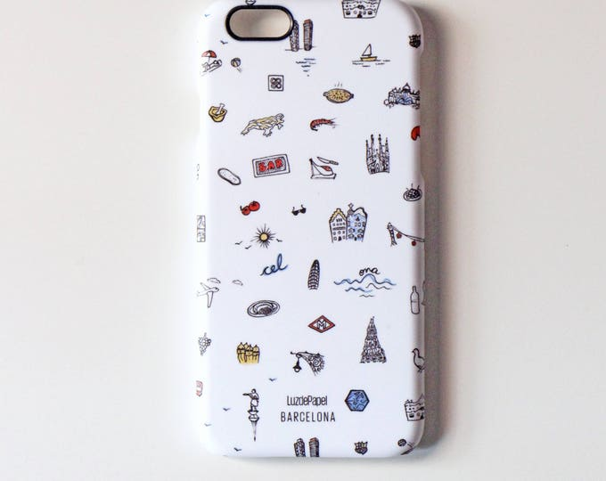 Mobile housing 6 iPHONE / iPHONE 6s, Barcelona case, iPHONE case, rigid mobile housing, founded phone iphone 6 / 6s, 6/6s iPhone casing