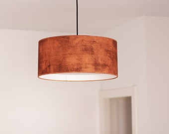 Hanging lamp, Industrial lighting, Drum lamp, Ceiling lamp, Pendant lamp industrial, Oxid hanging lampshade, Oxid lamp, Copper color lamp