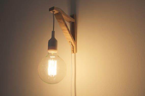 Uitzonderlijk Nordic muur lamp muur lamp lamp beugel Nordic pas hout   Etsy @ZP41