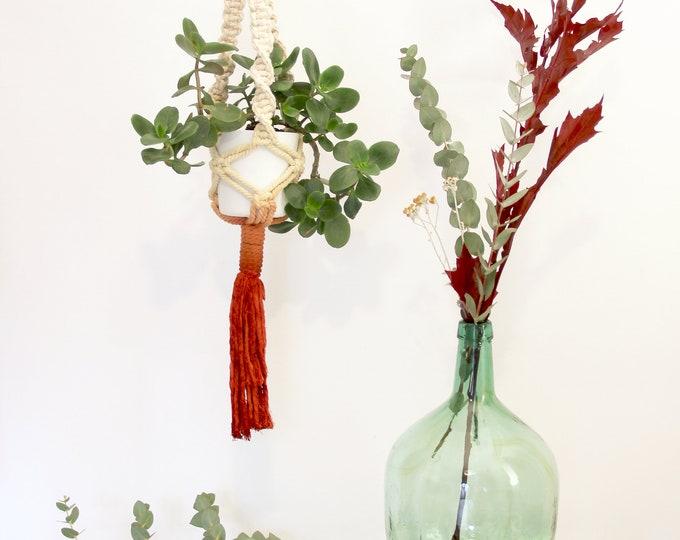 Macrame plant hanger, Boho holder plants, Dyed macrame plant hanger, Mother's Day gift, Macrame pot holder, Boho pot hanger,Marsala macrame