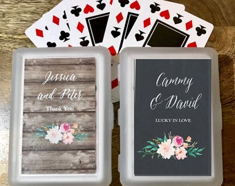 Personalized Playing Card Sets - Wedding Playing Cards - Deck of Cards - Playing Card Party Favors