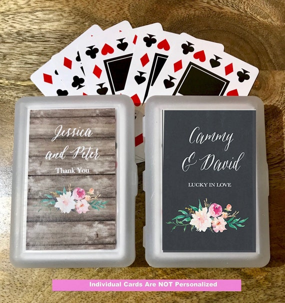 25 Personalized Playing Card Sets Wedding Playing Cards Etsy