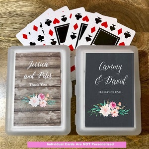 Set of 25 25 Religious Playing Cards with Personalized Case Favors