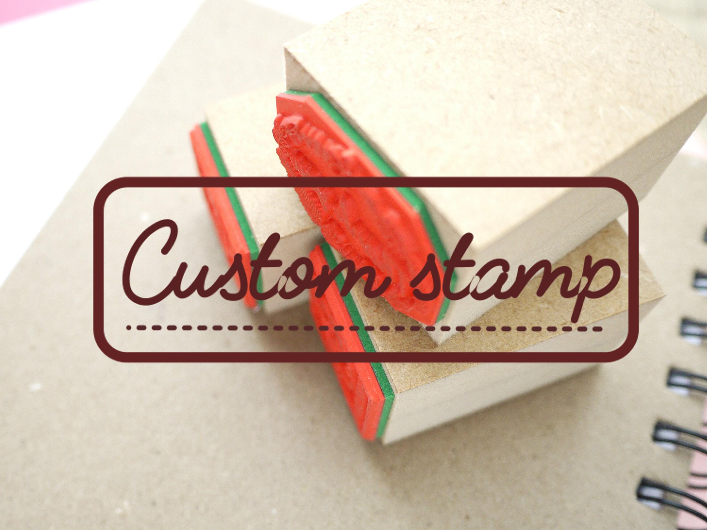 Custom stamp Logo stamp Original stamp Japanese stationery | Etsy