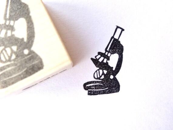 Mikroskop stempel biologie briefpapier etsy